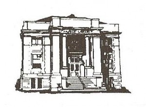 museum line drawing
