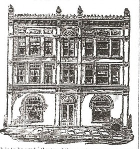 Bretch Building Drawing Newton Evening Kansan, 28 July 1888