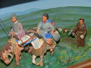 Detail of Kansas History Diorama No. 1, Coronado's March