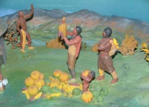 Detail of Indian Diorama No. 2, Kansa Harvest