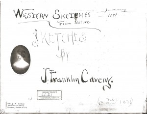 J. Franklin Caveny Sketchbook, January 1899.