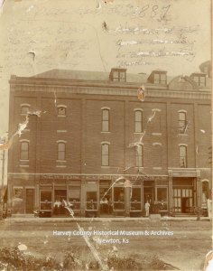 Newton Kansan, Ragsdale Opera House, Broadway & Main, 1887