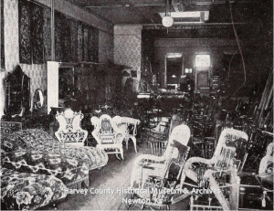 Schumacher's Furniture Business, Interior, 1901
