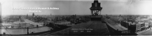 Panoramic View taken from the roof of the Opera House,  Main and Broadway in 1911 by Stovall Studio.