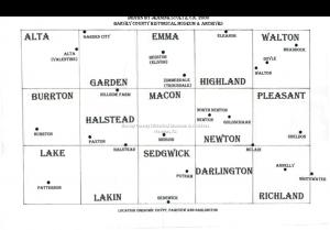 Lost Harvey County Map, drawn by Jeanine Stultz, ca. 200.