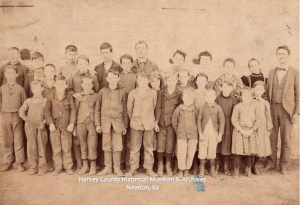 Centennial School, 1898, Will Patton, teacher. Located near McLain, Ks