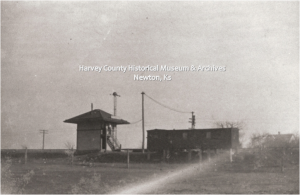 Mission ATSF Tower, Harvey County, 1911.