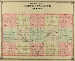 1882harvacountymap