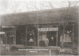 E. Griffin & Son, Selz Shoes, Elmon & John Griffin's Store, Sedgwick, Ks, ca. 1890.