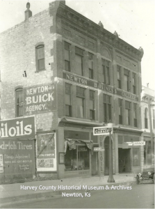 Newton Business College, Newton Buick Agency, Goodrich Tires, Nicodemus Garage, 811 -813 Main, Newton, 1917.