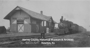 Missouri Pacific Depot, Hesston, ca. 1900, HCHM Photo Archives.