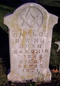 Carlos B. King Marker, Greenwood Cemetery, Newton, Ks.
