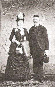 James and Bridget  Kennedy Fox wedding photo, 1886.