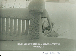 Lucile Mitchell Miller photo of porch on February 22, 1971.