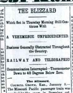 Topeka Daily Capital, 9 January 1886, p. 1.