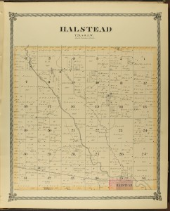 Halstead Township, Harvey County, Historical Atlas of Harvey County, Philadelphia: J.P. Edwards, 1882.
