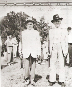 Last Salute: William J. Bush and Henry Brunner at Evergreen Cemetery Fitzgerald, 1937. Photo courtesy Georgia Archives, Vanishing Georgia Collection.