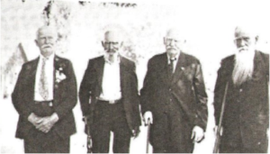 Last surviving Union veterans in Fitzgerald, GA, 1923. Henry Brunner, John Butcher, J.N. Howder, Ron McGregor. Photo courtesy Georgia Archives, Vanishing Georgia Collection.