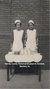 Margaret & Lois Spangler, State Representative at National Dairy Show, 1935.