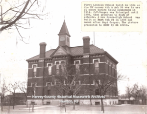 Lincoln School, 1884, 4th & Ash, Newton. Torn down in 1914.