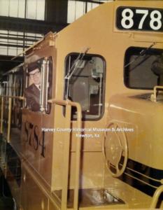 Michael B. Adams and diesel locomotive.
