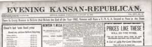 Evening Kansan Republican, 22 January 1902.