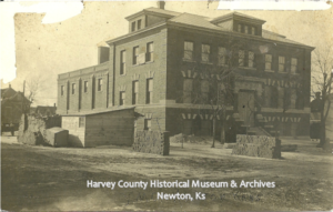 Construction of the Harvey County YMCA 1908-1909.