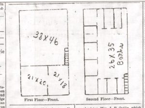 Floor Plan of YMCA Building, 1902, Evening Kansan Republican, 24 March 1902, p. 1.