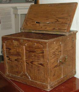 Detail of Ballot Box, Darlington Township, Harvey County, ca. 1880s.