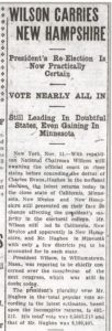 Evening Kansan Republican, 11 November 1916, p. 1.