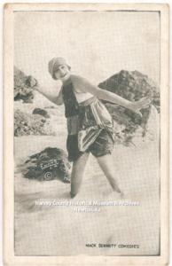 Gonda Durand Kortman, Mack Sennett Bathing Beauties Arcade Card, 1915-1917, HCHM Collection