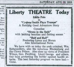 Evening Kansan Republican, 23 August 1919, p. 2.