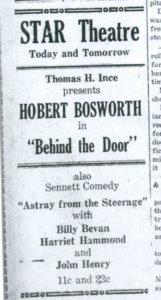 Evening Kansan Republican, 22 July 1921, p. 2.
