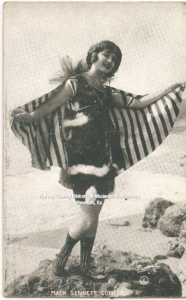 Harriet Hammond, Mack Sennett Bathing Beauties Arcade Card, 1915-1917. HCHM Collection